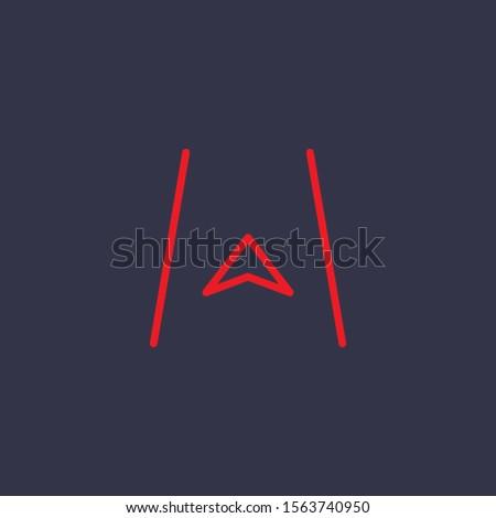 Outline navigation icon.navigation vector illustration. Symbol for web and mobile
