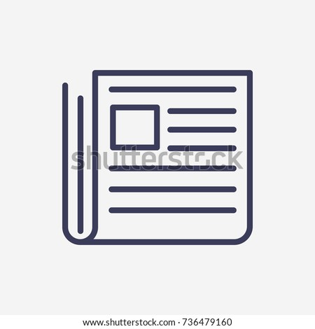 Outline Newspaper  icon illustration vector symbol