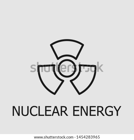 Outline nuclear energy vector icon. Nuclear energy illustration for web, mobile apps, design. Nuclear energy vector symbol.