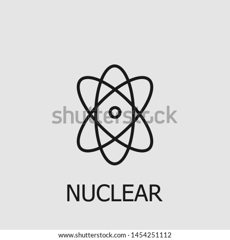 Outline nuclear vector icon. Nuclear illustration for web, mobile apps, design. Nuclear vector symbol.