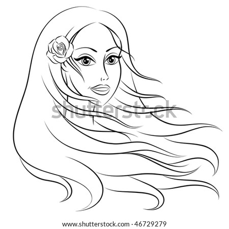 Free Vector Hair on Beautiful Woman With Long Hair  Stock Vector 46729279   Shutterstock