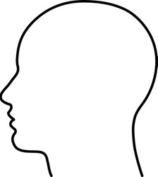 outline of human head - Vector