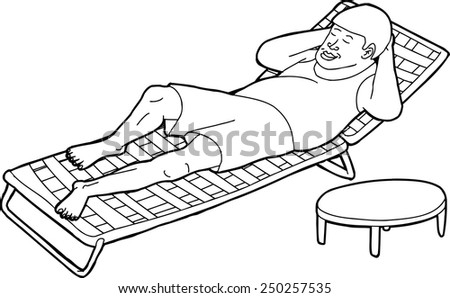 outline of single man resting