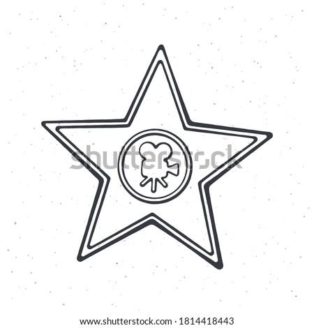 outline of star shape award