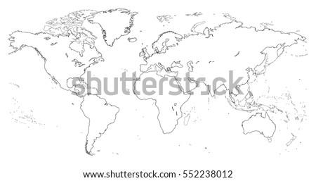 Vectores del mapa del mundo del bosquejo descargue grficos y outline of world map gumiabroncs Choice Image