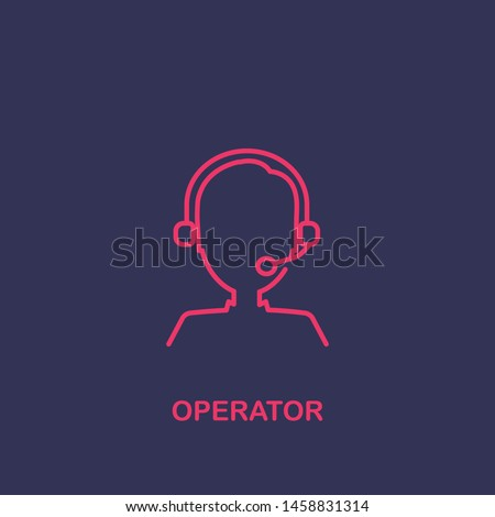 Outline operator icon.operator vector illustration. Symbol for web and mobile