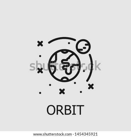 Outline orbit vector icon. Orbit illustration for web, mobile apps, design. Orbit vector symbol.