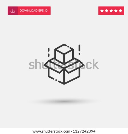 Outline Pack Icon isolated on grey background. Modern simple flat symbol for web site design, logo, app, UI. Editable stroke. Vector illustration. Eps10