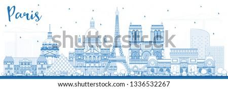 outline paris france city