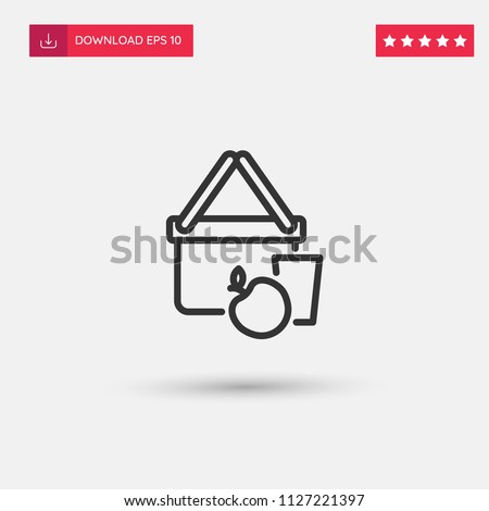 outline picnic icon isolated on