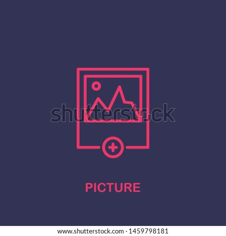 Outline picture icon.picture vector illustration. Symbol for web and mobile