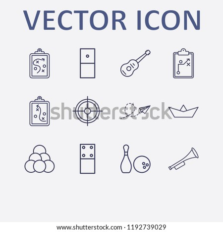 outline 12 play icon set