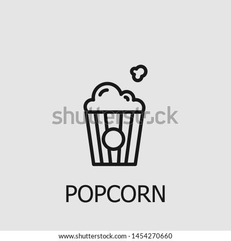 Outline popcorn vector icon. Popcorn illustration for web, mobile apps, design. Popcorn vector symbol.