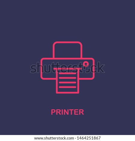 Outline printer icon.printer vector illustration. Symbol for web and mobile