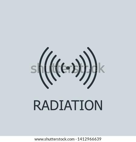 Outline radiation vector icon. Radiation illustration for web, mobile apps, design. Radiation vector symbol.