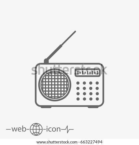 outline radio vector icon