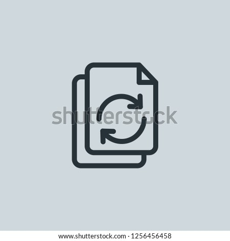 Outline recycle vector icon. Recycle illustration for web, mobile apps, design. Recycle vector symbol.