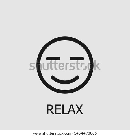 Outline relax vector icon. Relax illustration for web, mobile apps, design. Relax vector symbol.
