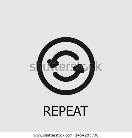 Outline repeat vector icon. Repeat illustration for web, mobile apps, design. Repeat vector symbol. Stock photo ©