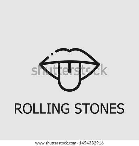 outline rolling stones vector