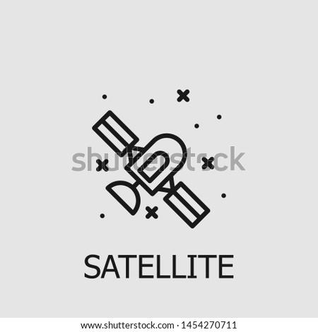 Outline satellite vector icon. Satellite illustration for web, mobile apps, design. Satellite vector symbol.