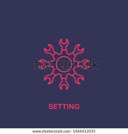 Outline setting icon.setting vector illustration. Symbol for web and mobile