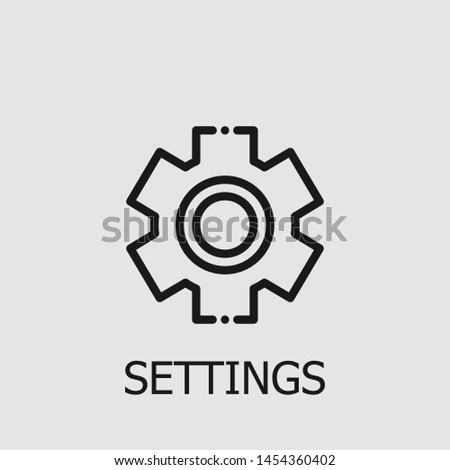 Outline settings vector icon. Settings illustration for web, mobile apps, design. Settings vector symbol.