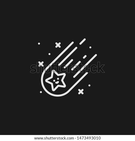 outline shooting star vector