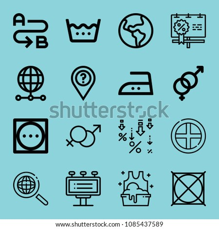 outline signs icon set such as