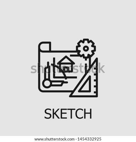 Outline sketch vector icon. Sketch illustration for web, mobile apps, design. Sketch vector symbol.