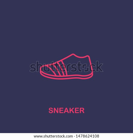 Outline sneaker icon.sneaker vector illustration. Symbol for web and mobile