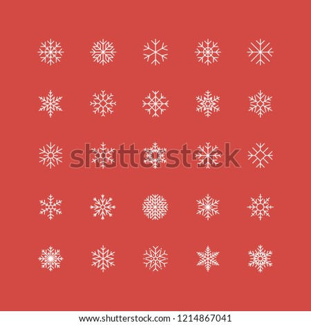 Outline Snowflakes Icons
