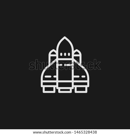 Outline space ship vector icon. Space ship illustration for web, mobile apps, design. Space ship vector symbol.