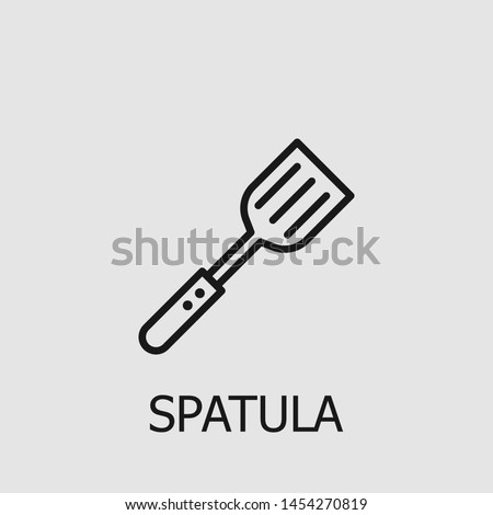 Outline spatula vector icon. Spatula illustration for web, mobile apps, design. Spatula vector symbol.