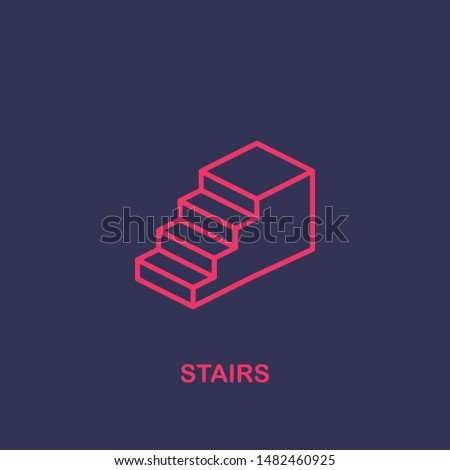 Outline stairs icon.stairs vector illustration. Symbol for web and mobile