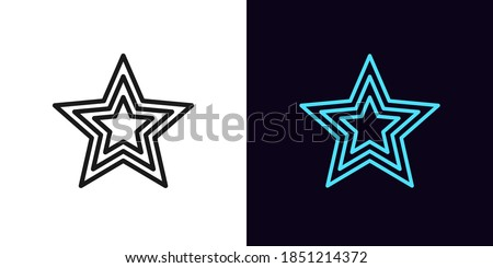 outline star icon linear