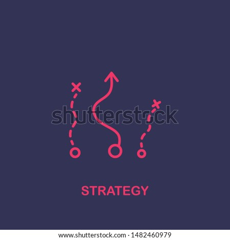 Outline strategy icon.strategy vector illustration. Symbol for web and mobile