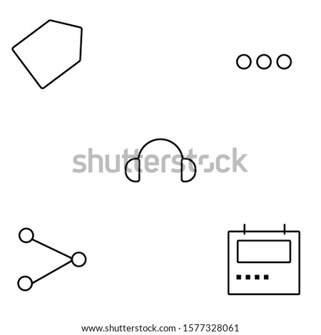 outline-style icon set with user interfaces theme