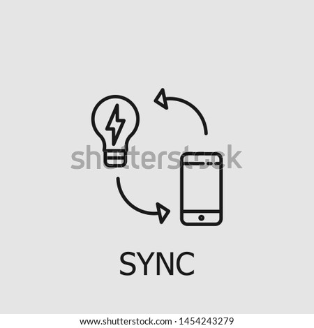 Outline sync vector icon. Sync illustration for web, mobile apps, design. Sync vector symbol.