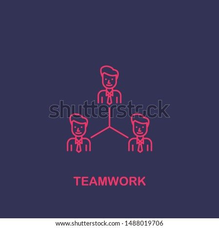 Outline teamwork icon.teamwork vector illustration. Symbol for web and mobile