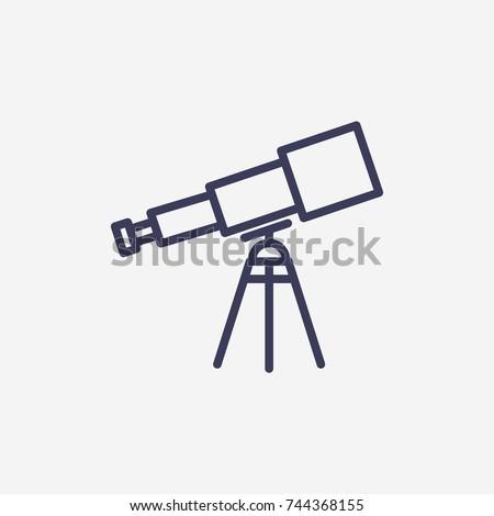 Outline telescope icon illustration vector symbol