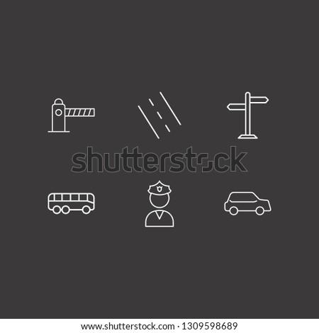 outline 6 traffic icon set