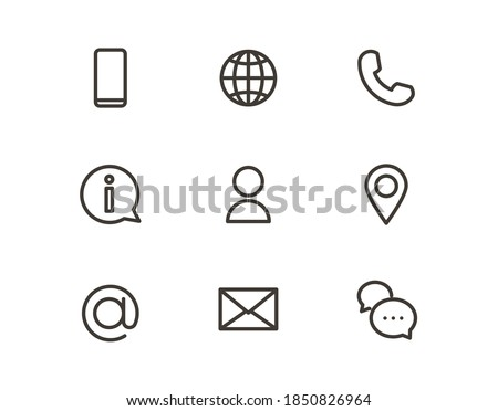 Outline trendy icons for online business or website. Vector graphic elements for visual communication strategy Photo stock ©