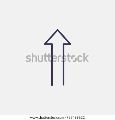 Outline up arrow icon illustration isolated vector sign symbol