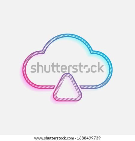 outline upload simple cloud