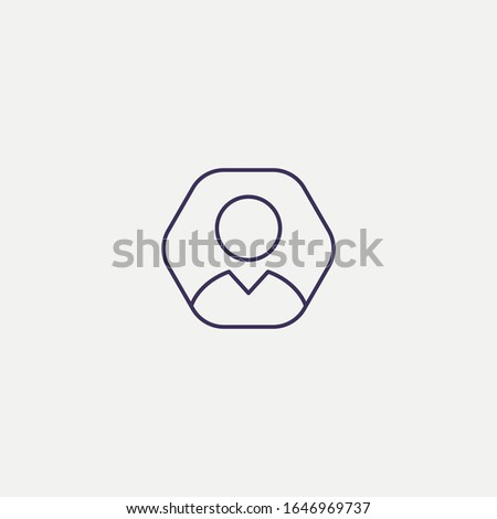 Outline user  icon.user  vector illustration. Symbol for web and mobile