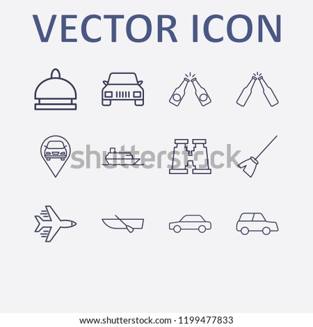 outline 12 vacation icon set