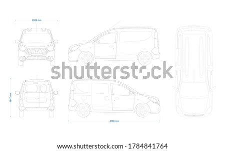 outline vector drawing of a
