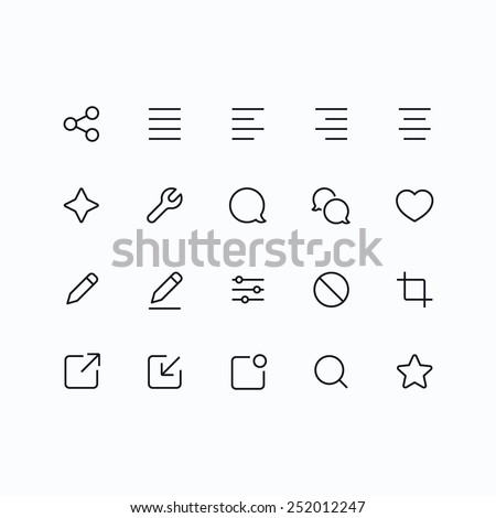 Outline vector icons for web and mobile. Thin 2 pixel stroke & 60x60 resolution.