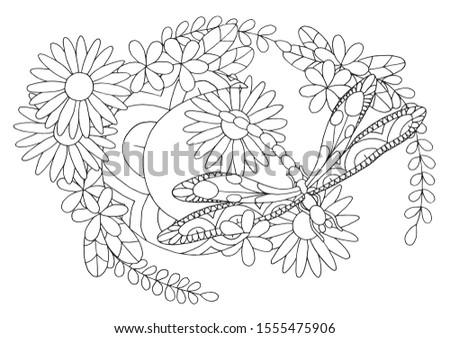 outline vector illustration of